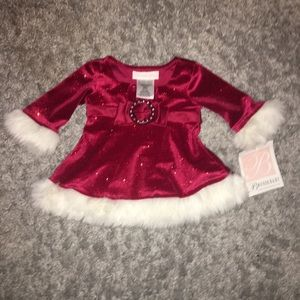Other - Baby Christmas Dress so Pretty size 0-3 Months